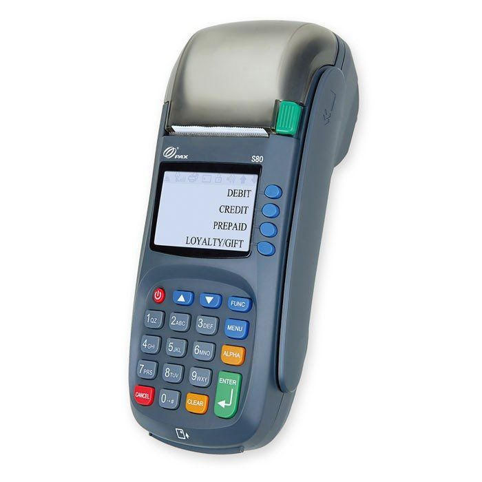 Countertop credit card machine